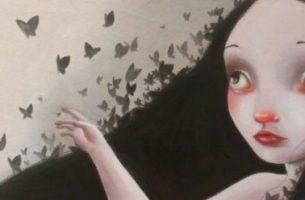 Dziewczyna z motylkami