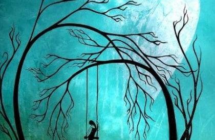 Drzewo i huśtawka