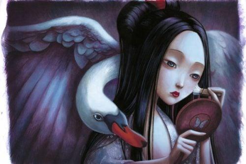 Kobieta łabądź - piękno wewnętrzne