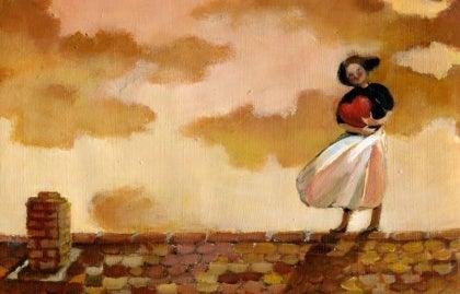 Kobieta na dachu