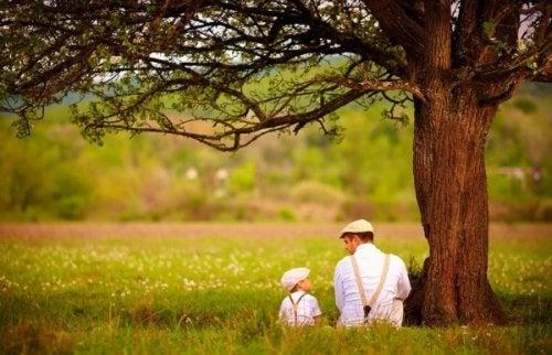 ojciec i syn - rodzice i dzieci