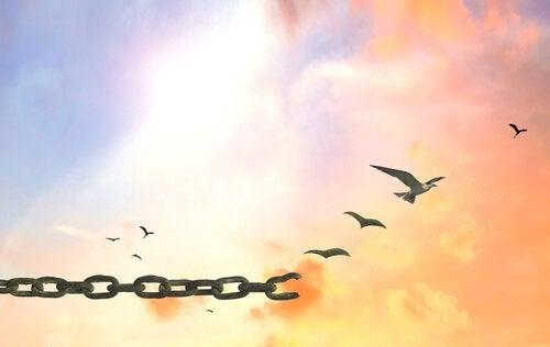 Łańcuch ograniczający prawdziwe szczęście