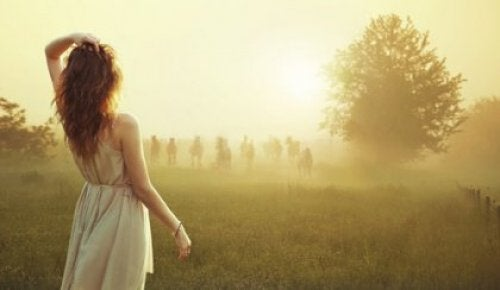 kobieta we mgle