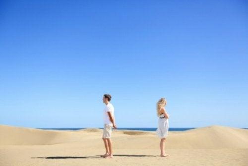 Para na pustyni