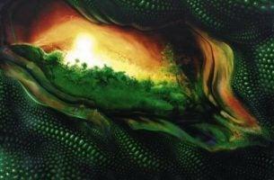 Zielona abstrakcja - wartości