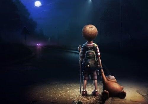 Chłopiec z misiem