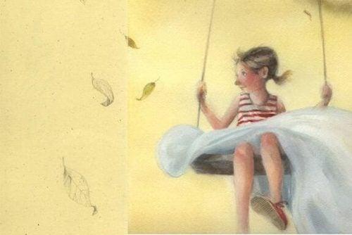 Dziewczyna na huśtawce