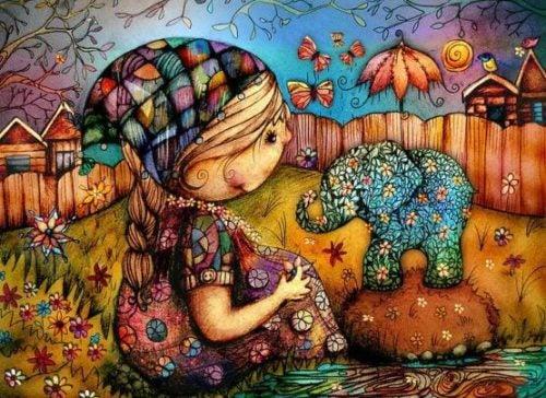 Dziewczynka ze słonikiem
