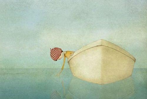 Dziewczynka w łódce