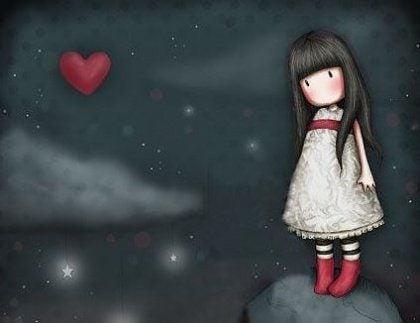 Dziewczynka w chmurach