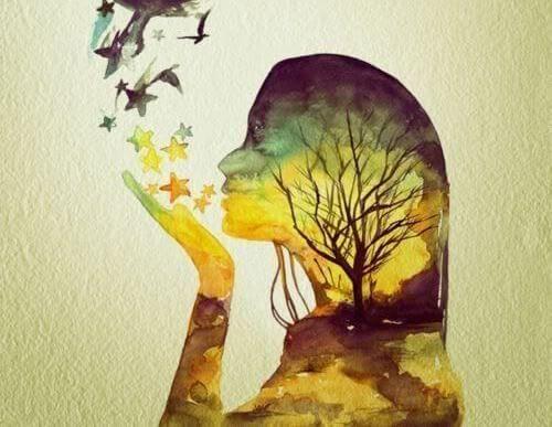 Kobieta i drzewo