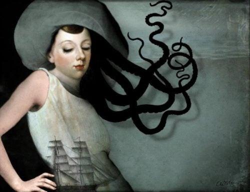 Kobieta ośmiornica