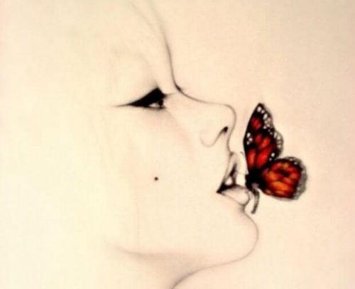 Motyl na ustach