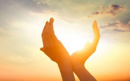 Słońce w rękach