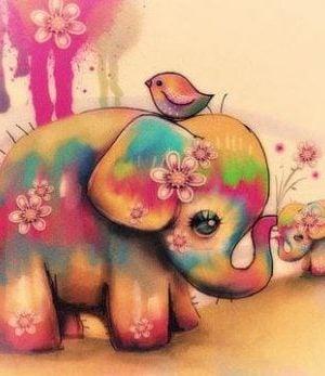 Kolorowe słoniki