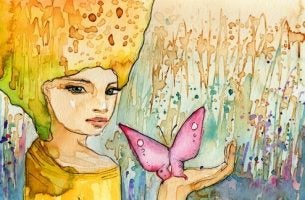 dziewczyna i motyl - życie