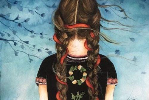 Dziewczynka z warkoczami