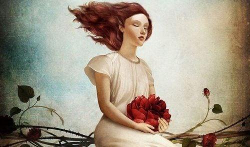 Kobieta z kwiatem