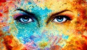 kolorowa twarz