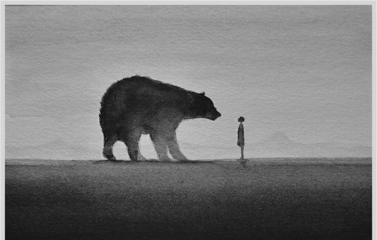 Niedźwiedź i człowiek