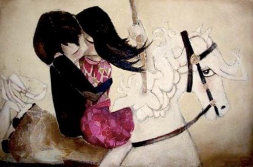 Pocałunek na białym koniu