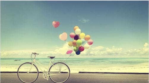 rower i balony
