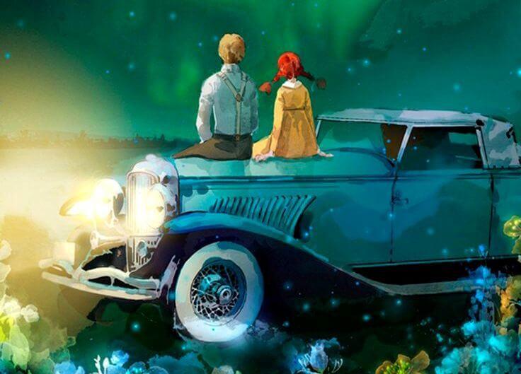 Dziewczyna z chłopakiem siedzą na masce samochodu