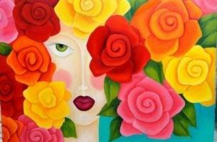 Kobita z kwiatami zamiast włosów - kochać siebie