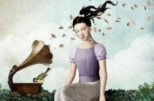 Dziewczyna słucha muzyki - żyjesz czy wegetujesz?