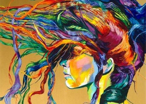 Głowa pełna kolorów