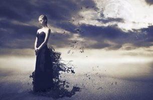 kobieta i księżyc - wewnętrzny opór