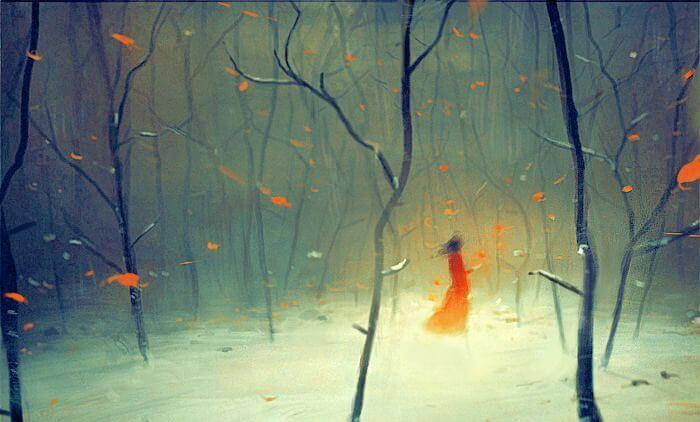 kobieta w jesiennym lesie