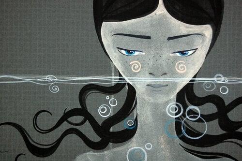 Kobieta w wodzie - zanurzyć się ponownie