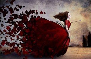 Kobieta ze strzałą w sercu
