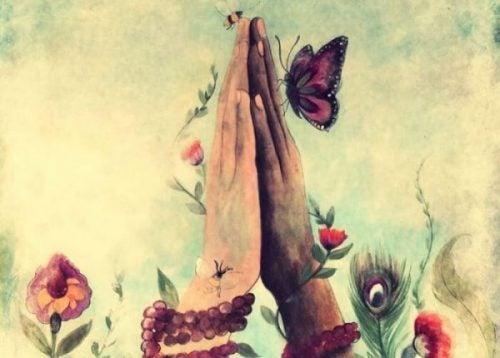 Motyle na dłoniach