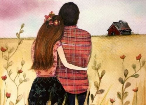 zakochana para - życie razem