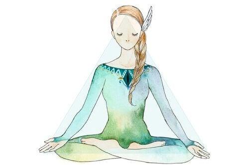 Medytująca dziewczyna