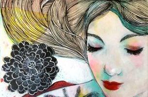 Kobieta kochająca siebie - kwiaty