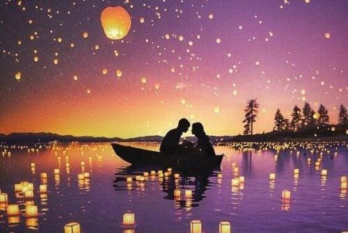 Para na łódce