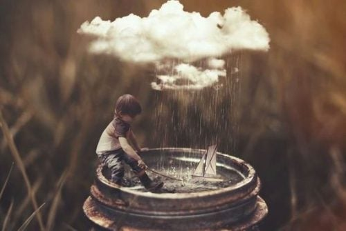 Samotny chłopiec - gdy ojciec odchodzi