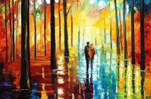 Spacer w lesie - wierność
