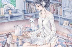 Kobieta w słuchawkach - cechy kobiety sukcesu