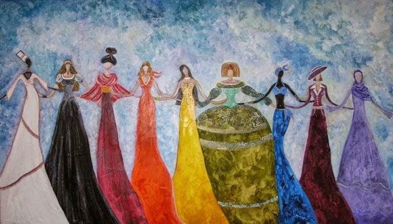 Tańczące kobiety-boginie
