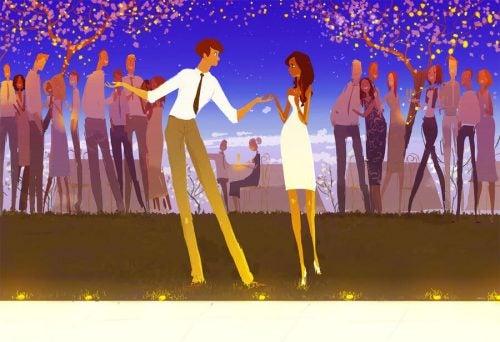 Tańcząca para - piękne słowa