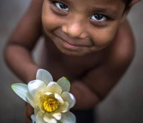 Uśmiechnięte dziecko