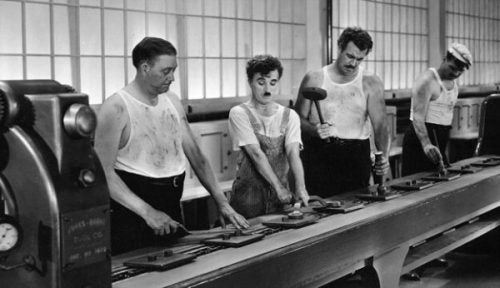 Charlie Chaplin na fabryce