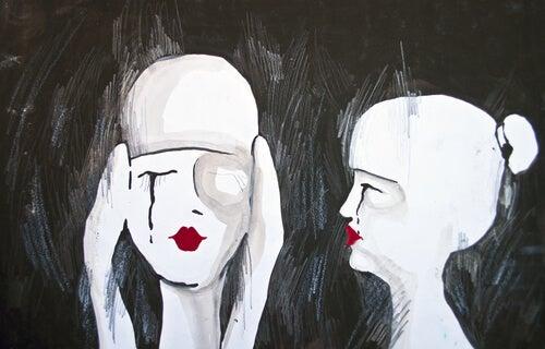 Dwie płaczące kobiety