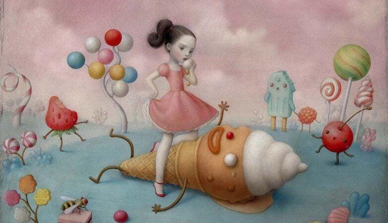 dziewczynka i lody