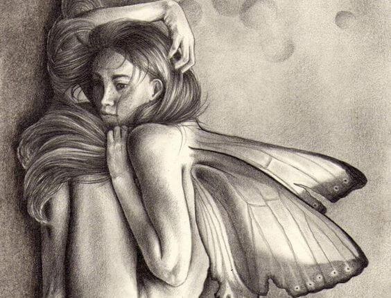 Kobieta - motyl