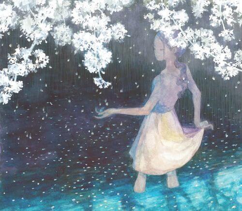 Dziewczyna pod drzewem